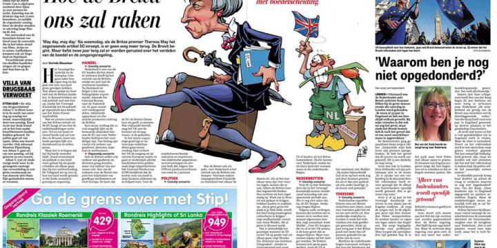 Hoe de Brexit ons zal raken – De Telegraaf 27/03/2017