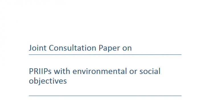 How to define ESG objectives in ethical investing? – PRIIPs EOS consultation
